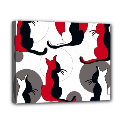 Elegant Abstract Cats  Canvas 10  X 8  by Valentinaart