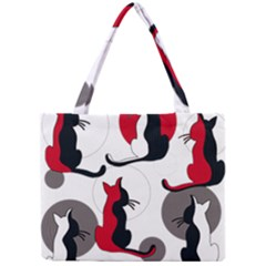 Elegant Abstract Cats  Mini Tote Bag by Valentinaart