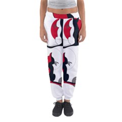 Elegant Abstract Cats  Women s Jogger Sweatpants by Valentinaart