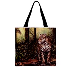 Jaguar In The Jungle Grocery Tote Bag by ArtByThree