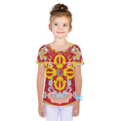 National Emblem Of Bhutan Kids  One Piece Tee by abbeyz71