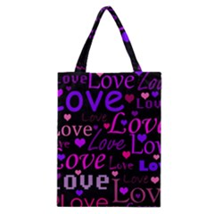 Love Pattern 2 Classic Tote Bag by Valentinaart