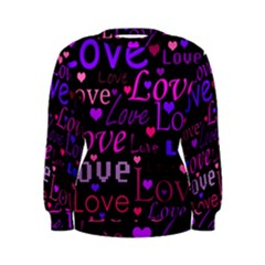 Love Pattern 2 Women s Sweatshirt by Valentinaart