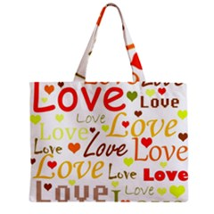 Valentine s Day Pattern Zipper Mini Tote Bag by Valentinaart