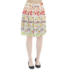 Valentine s Day Pattern Pleated Skirt
