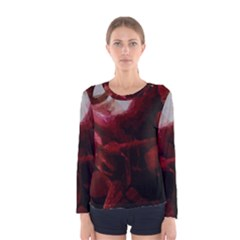 Dark Red Candlelight Candles Women s Long Sleeve Tee by yoursparklingshop