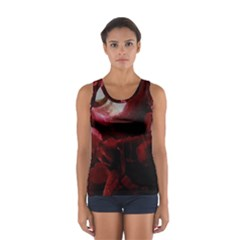 Dark Red Candlelight Candles Women s Sport Tank Top  by yoursparklingshop