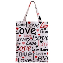 Love Pattern   Red Classic Tote Bag by Valentinaart