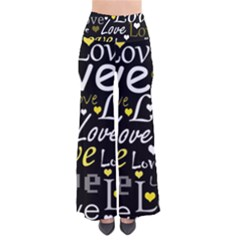 Yellow Love Pattern Pants by Valentinaart