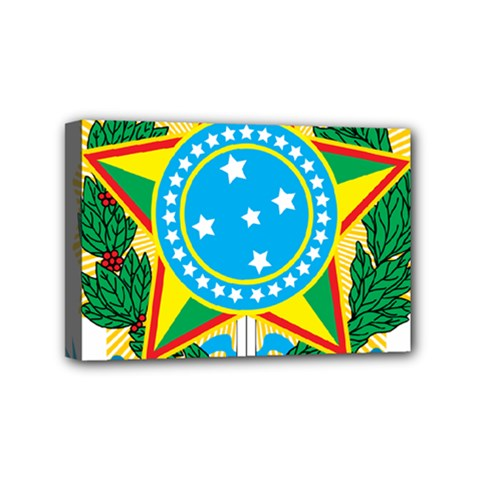 Coat Of Arms Of Brazil Mini Canvas 6  X 4  by abbeyz71