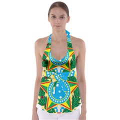Coat Of Arms Of Brazil Babydoll Tankini Top
