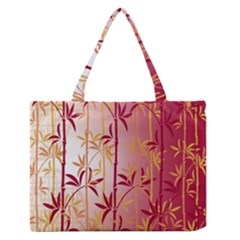 Bamboo Tree New Year Red Medium Zipper Tote Bag by AnjaniArt