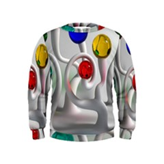 Colorful Glass Balls Kids  Sweatshirt by AnjaniArt