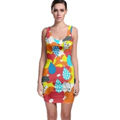 Bear Umbrella Sleeveless Bodycon Dress by AnjaniArt
