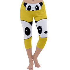 Face Panda Cute Capri Yoga Leggings