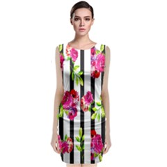 Flower Rose Classic Sleeveless Midi Dress by AnjaniArt