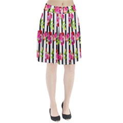 Flower Rose Pleated Skirt by AnjaniArt