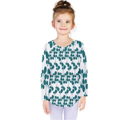 Flower Tree Blue Kids  Long Sleeve Tee by AnjaniArt