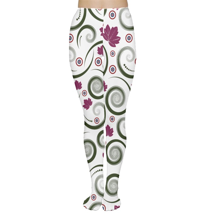 Leaf Back Purple Copy Women s Tights