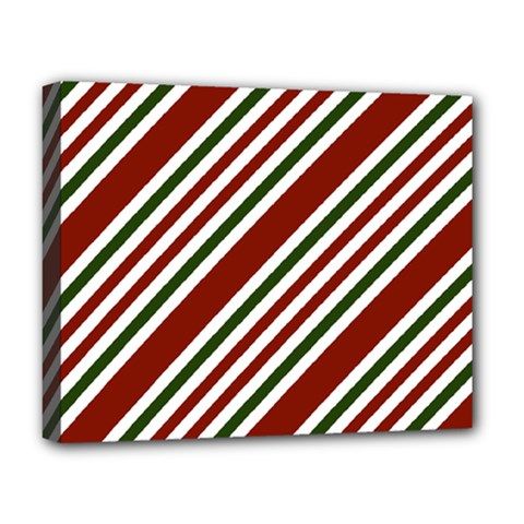 Line Christmas Stripes Deluxe Canvas 20  X 16