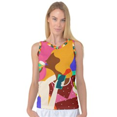 Girl Colorful Copy Women s Basketball Tank Top by AnjaniArt