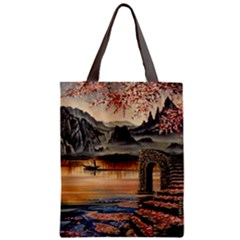 Japanese Lake Of Tranquility Classic Tote Bag by ArtByThree