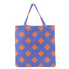 Orange Blue Grocery Tote Bag
