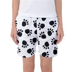 Paws Black Animals Women s Basketball Shorts