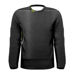On Black Men s Long Sleeve Tee
