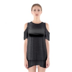 On Black Cutout Shoulder Dress