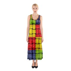 Pinterest Water Colorfull Sleeveless Maxi Dress