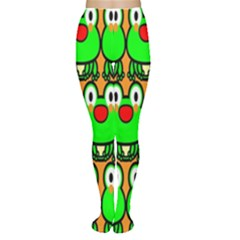 Sitfrog Orange Face Green Frog Copy Women s Tights