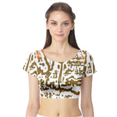 The Dance Short Sleeve Crop Top (tight Fit)