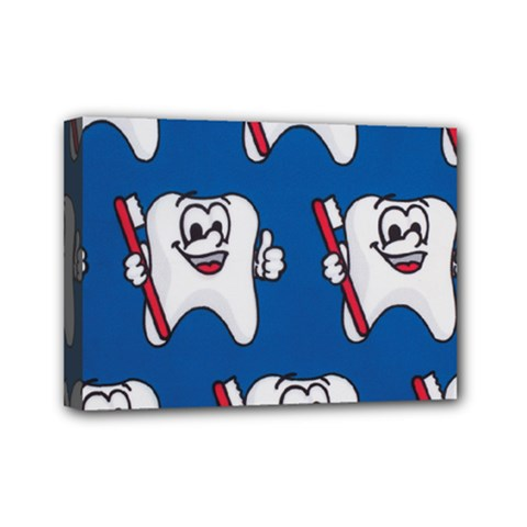Tooth Mini Canvas 7  X 5