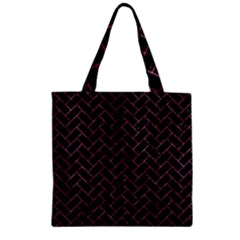 Brick2 Black Marble & Pink Marble Zipper Grocery Tote Bag by trendistuff