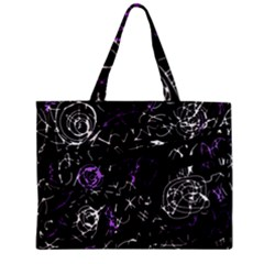 Abstract Mind   Purple Zipper Mini Tote Bag by Valentinaart