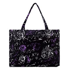 Abstract Mind   Purple Medium Tote Bag by Valentinaart