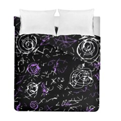 Abstract Mind   Purple Duvet Cover Double Side (full/ Double Size) by Valentinaart