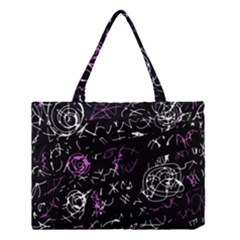 Abstract Mind   Magenta Medium Tote Bag by Valentinaart