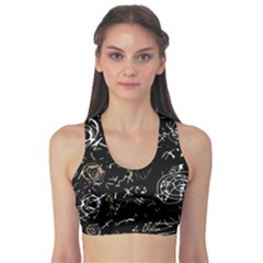 Abstract Mind   Brown Sports Bra by Valentinaart