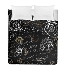 Abstract Mind   Brown Duvet Cover Double Side (full/ Double Size) by Valentinaart
