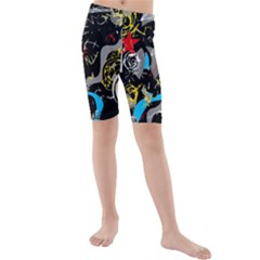Confusion 2 Kids  Mid Length Swim Shorts by Valentinaart