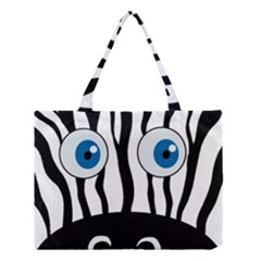 Blue Eye Zebra Medium Tote Bag by Valentinaart