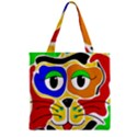 Colorful cat Zipper Grocery Tote Bag View1
