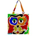 Colorful cat Zipper Grocery Tote Bag View2
