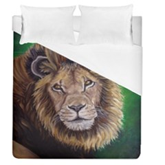 Lion Duvet Cover (queen Size) by ArtByThree