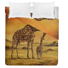 Giraffe Mother & Baby Duvet Cover Double Side (queen Size)