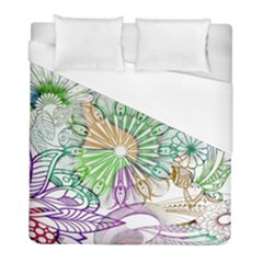 Zentangle Mix 1116c Duvet Cover (full/ Double Size) by MoreColorsinLife