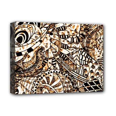 Zentangle Mix 1216c Deluxe Canvas 16  X 12   by MoreColorsinLife