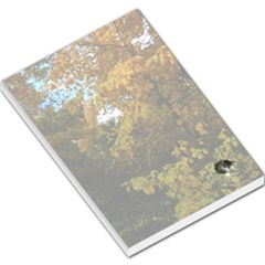 Vermont Tree In Autumn With Kitty Large Memo Pad by SusanFranzblau